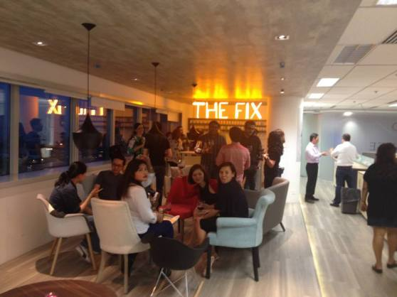 """Pimping out the new office bar """"The Fix"""" every Friday night."""