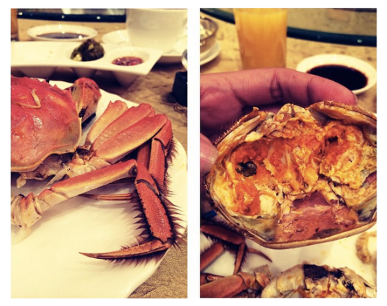 Me: Have you tried hairy crab before? Ed: Nope, I prefer my crabs well groomed.